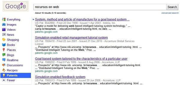 Google añade la búsqueda de patentes entre sus servicios