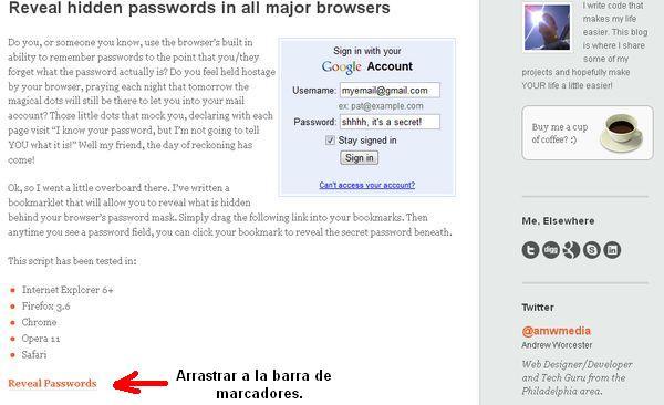 Reveal Passwords