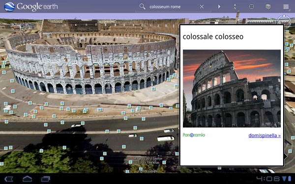 Google Earth 3D llega a las tabletas Android