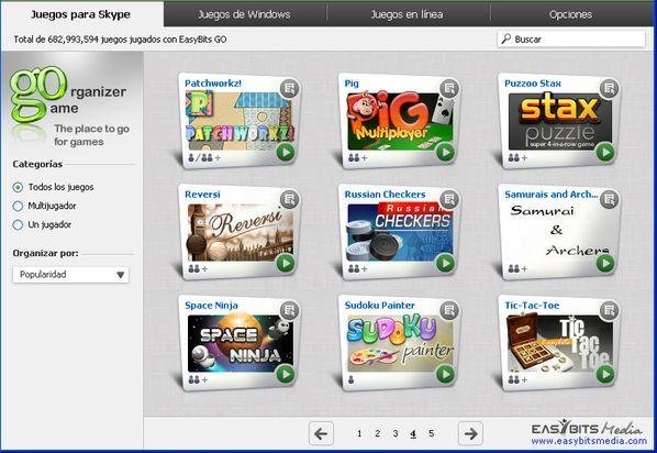 Juegos de EasyBits Go para Skype