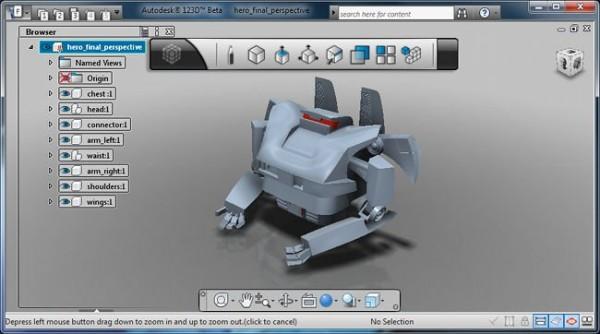 Autodesk 123D, programa gratuito de modelado en 3D