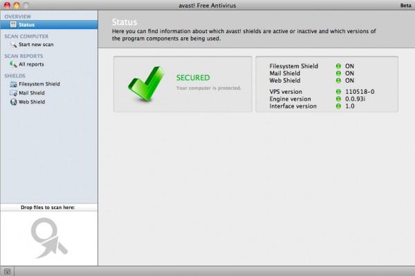 Versión del antivirus Avast para Mac OS X