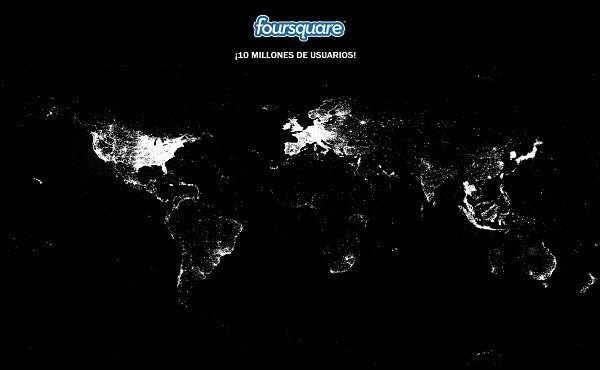 Foursquare supera los 10 millones de usuarios