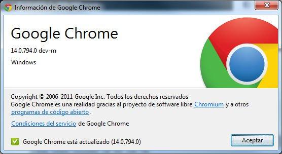 Imagen de Google Chrome 14