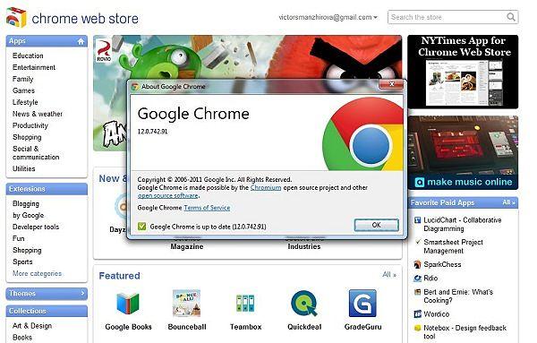 Google Chrome 12