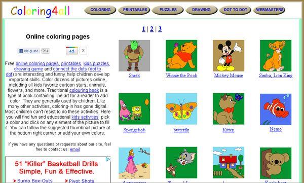 Coloring4all: puzles, dibujos e imprimibles para los niños