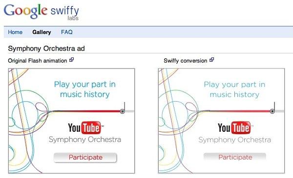 Google Swiffy