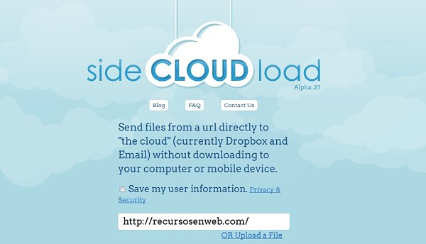 SideCLOUDload