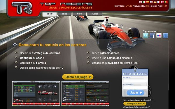 TopRacers F1 Manager