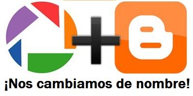 Blogger y Picasa cambiarán sus nombres