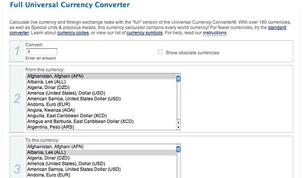 Full Universal Currency Converter