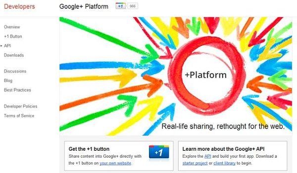 API para Google Plus
