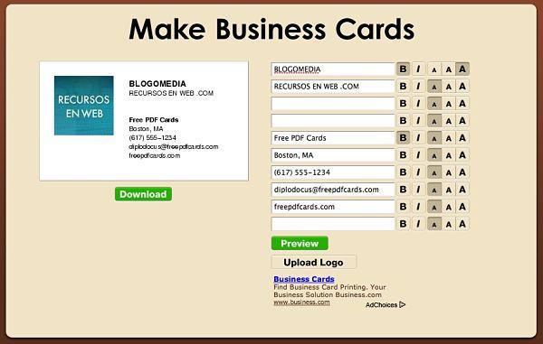 tarjetas visita presentación