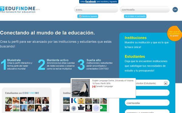 EduFindme red social estudiar extranjero