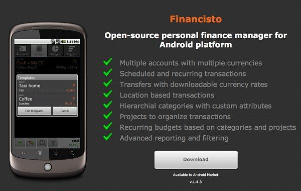 Financisto finanzas android