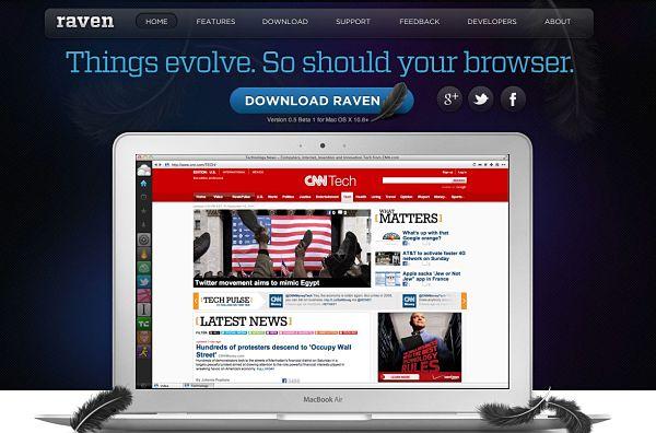 Raven navegador Mac