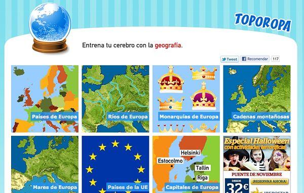 Toporopa juegos geografia