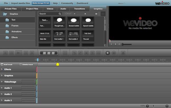 WeVideo editor video