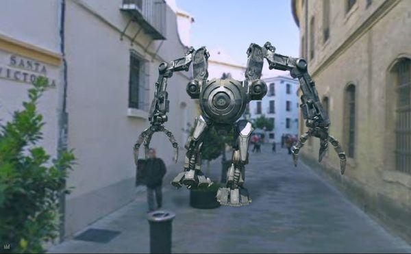 ChaosInYourTown video robot google maps