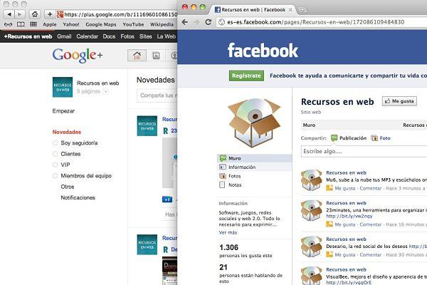 Google+ y Facebook: segmentación de la Web social y fusión de ambos mundos