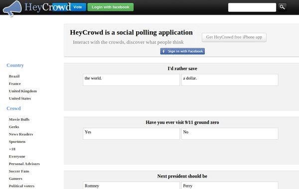 HeyCrowd encuestas