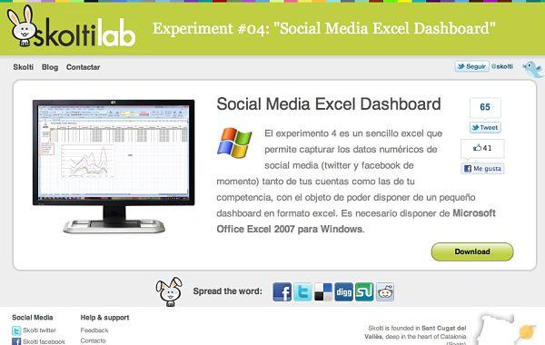 Social Media Excel