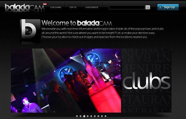 Baladacam webcams bares discotecas
