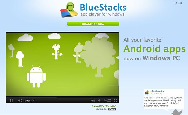 BlueStacks android en windows