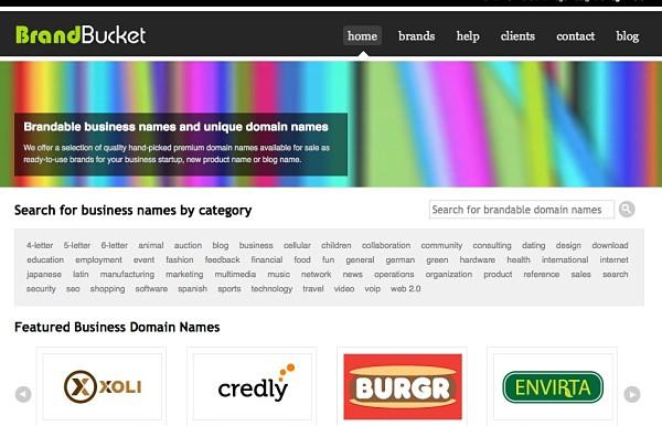 BrandBucket logotipo dominios