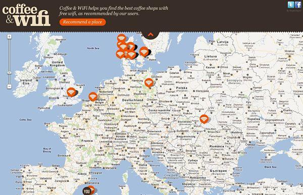 Coffe & WiFi mapa