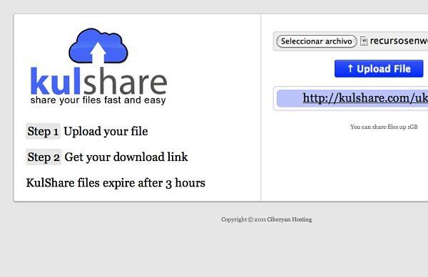 KulShare almacenamiento online