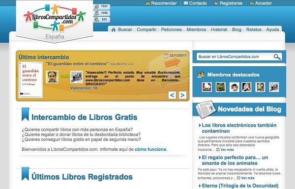 LibrosCompartidos.com intercambio libros internet