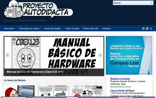 Proyecto Autodidacta, tutoriales de informática e Internet en formato cómic
