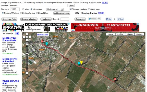 Map Pedometer