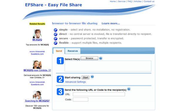 EFShare enviar archivos