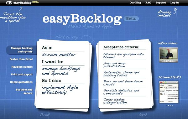 Easybacklog gestion proyectos