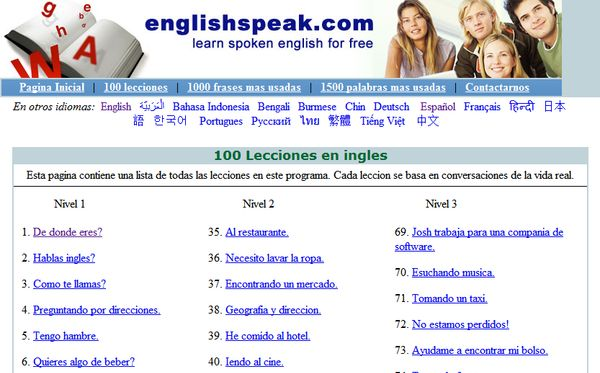 Englishspeak cursos gratis aprender ingles