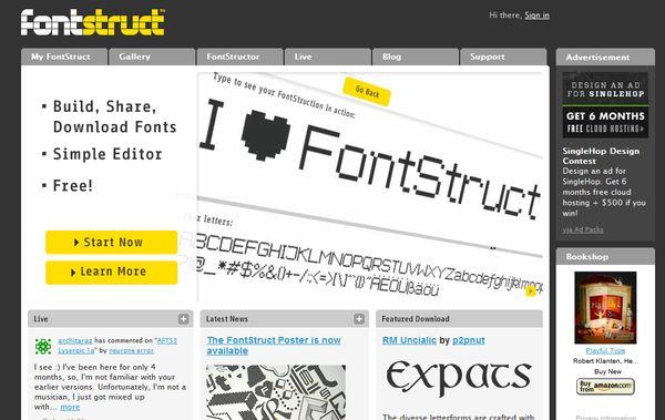 FontStruct fuentes texto