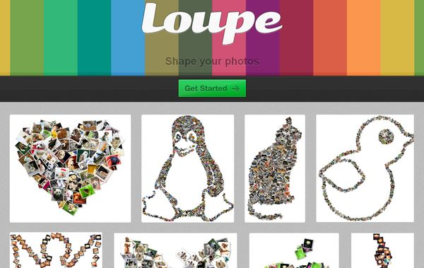 Loupe collages