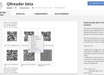 QRreader beta Chrome
