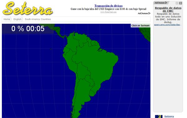 Seterra tests geografia