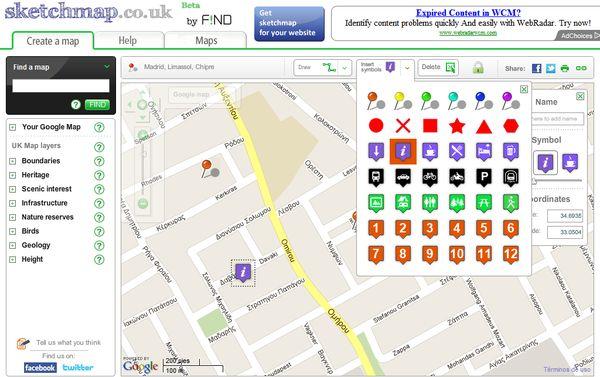 Sketchmap mapas google maps