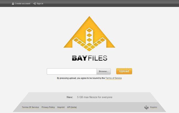 BayFiles compartir archivos