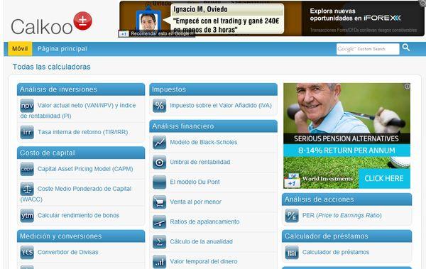Calkoo calculadoras conversores online
