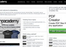 PHPAcademy web php