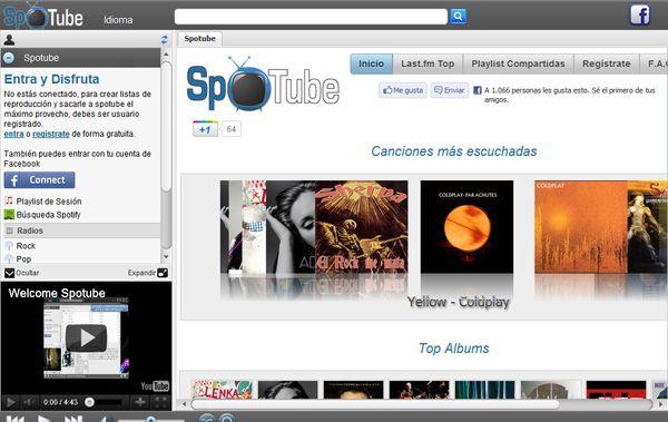 SpoTube escuchar musica