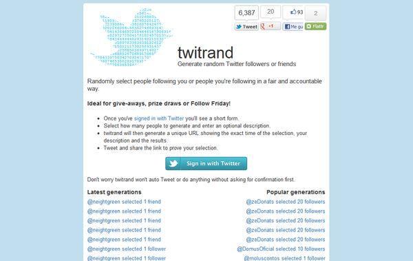 Twitrand sorteos twitter