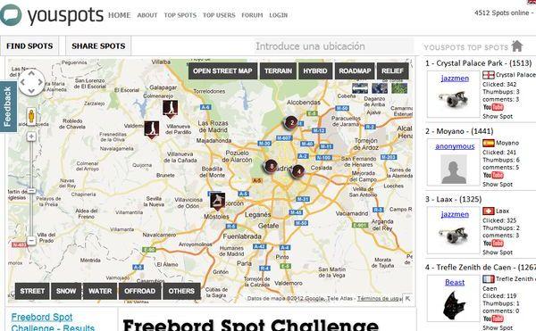 Youspots mapa