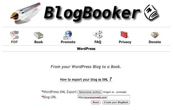 Blogbooker blog en pdf