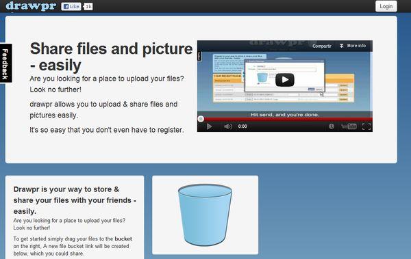 Drawpr almacenar enviar archivos